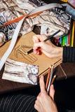 Skizziert Modedesigner Lizenzfreie Stockfotos