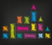 Skizzierte Dreiecke und squaresΠLizenzfreie Stockfotos