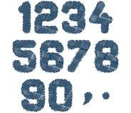 Skizzierte Zahlen Lizenzfreie Stockbilder