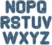 Skizziertes Alphabet nz Lizenzfreie Stockfotos
