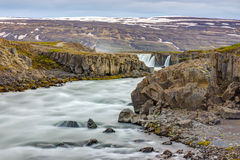 Skjalfandafljot river with Godafoss Stock Images
