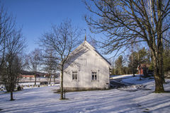 Церковь Skjeberg-долины (восток) Стоковое Изображение