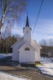 Церковь Skjeberg-долины (запад) Стоковые Фотографии RF