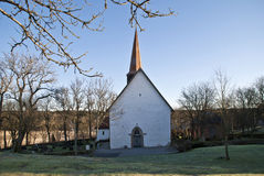 Skjeberg church. Is a rural church from abaut year 1100 in Sarpsborg municipality, Östfold county. It has a rectangular shape, is built in stone and has 360 Royalty Free Stock Photography