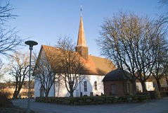 Skjeberg church. Is a rural church from abaut year 1100 in Sarpsborg municipality, Östfold county. It has a rectangular shape, is built in stone and has 360 Royalty Free Stock Photo