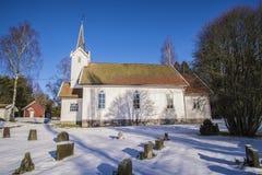 Skjeberg-dal kyrka (söder) Arkivfoton