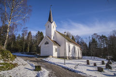 Skjeberg-dal kyrka (södra västra) Arkivfoton