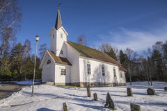 Skjeberg-vallei Kerk (zuidwesten) Stock Foto's