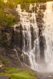 Skjervsfossen vattenfall - Norge Royaltyfri Foto