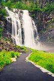 Skjervsfossen vattenfall - Norge Arkivfoto