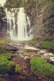 Skjervsfossen vattenfall - Norge Fotografering för Bildbyråer