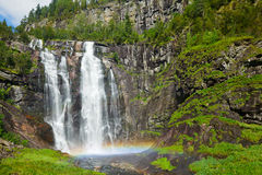Skjervsfossen waterfall Royalty Free Stock Photography