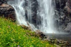 Skjervsfossen waterfall in Hordaland county, Norway.  stock photos