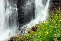 Skjervsfossen waterfall in Hordaland county, Norway.  stock photography
