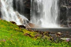 Skjervsfossen waterfall in Hordaland county, Norway.  royalty free stock photo
