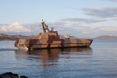Skjold Kategorien-Patrouillenboot. Stockbilder