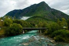 Skjolden,挪威风景 免版税库存图片