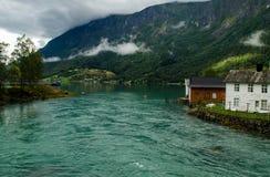 Skjolden,挪威 免版税库存图片