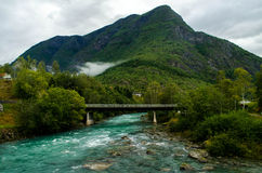 Skjolden, Norway Landscape Royalty Free Stock Image