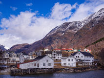 Skjolden Village in Norway Royalty Free Stock Image