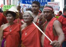 skjorta för bangkok protestred arkivfoton
