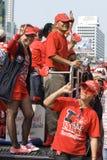 skjorta för bangkok protestred arkivbild