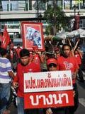 skjorta för bangkok protestred royaltyfri foto