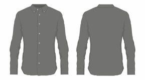 Skjorta för klänning för svart för man` s stock illustrationer