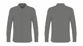 Skjorta för klänning för svart för man` s royaltyfri illustrationer