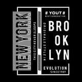 Skjorta för typografi t för New York City evolution grafisk stock illustrationer