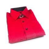 Skjorta. mäns skjorta vikt på en bakgrund Arkivbild