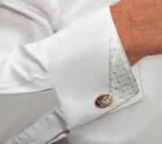 Skjorta med manschettknappar Fotografering för Bildbyråer