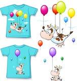Skjorta med roligt utskrivavet koflyg med ballongen Royaltyfria Foton