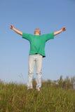 skjorta t för grön man Arkivfoton