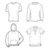 skjortamallar vektor illustrationer