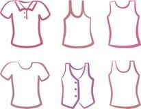 skjortasilhouettes royaltyfri illustrationer