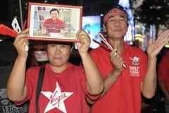 skjortor för bangkok centrala protestred Arkivfoton