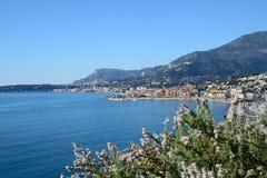 Skjul d'Azur-Menton-Frankrike royaltyfria bilder