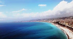 SKJUL D 'AZUR View av NICE arkivfoto