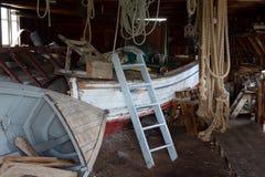 Skjul för fartyglagring i lantbrukarhemmet och Harbertonen Royaltyfri Bild