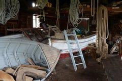 Skjul för fartyglagring i lantbrukarhemmet och Harbertonen Arkivfoto