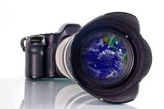 skjuta över hela världen Arkivfoto