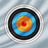 Skjuta det pappers- målet som trängas igenom av kulor royaltyfri illustrationer