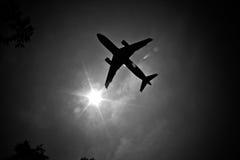 Skjuta i höjden flygbussen Royaltyfri Fotografi