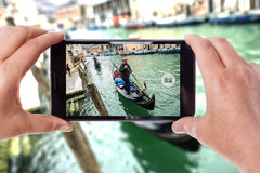 Skjuta i Venedig Royaltyfri Fotografi