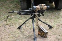 Skjuta med kulspruta .50 appell Arkivbilder
