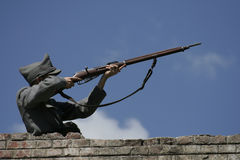 skjuta soldat Royaltyfri Bild