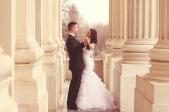 skjuten övre sikt för bruddans brudgum Royaltyfri Foto