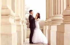 skjuten övre sikt för bruddans brudgum Royaltyfri Bild