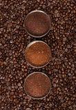 skjuten bönakaffemakro Arkivfoto